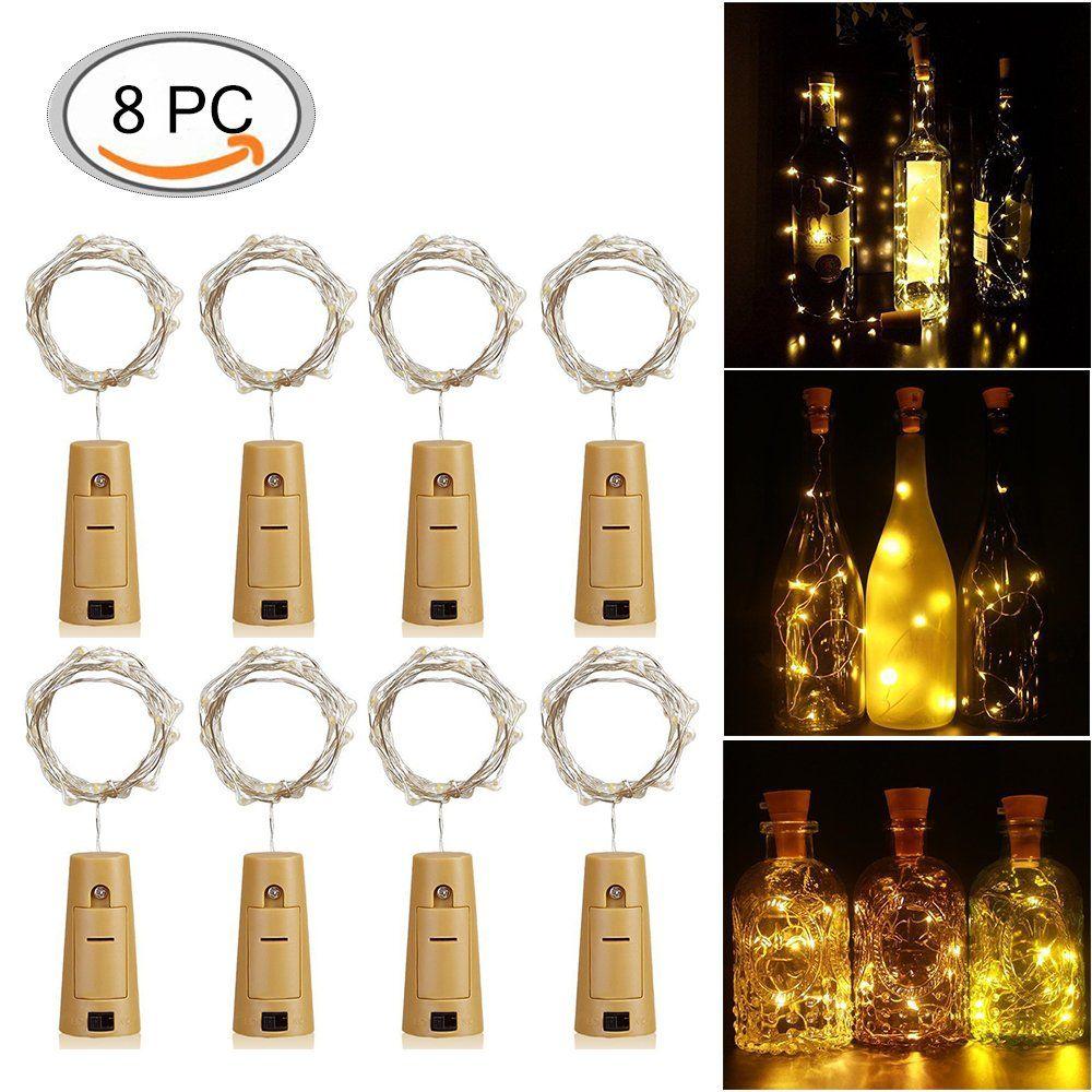 Bottle lights,KUXIEN 8 Pack LED cork lights ,Copper Wire Bottle ...