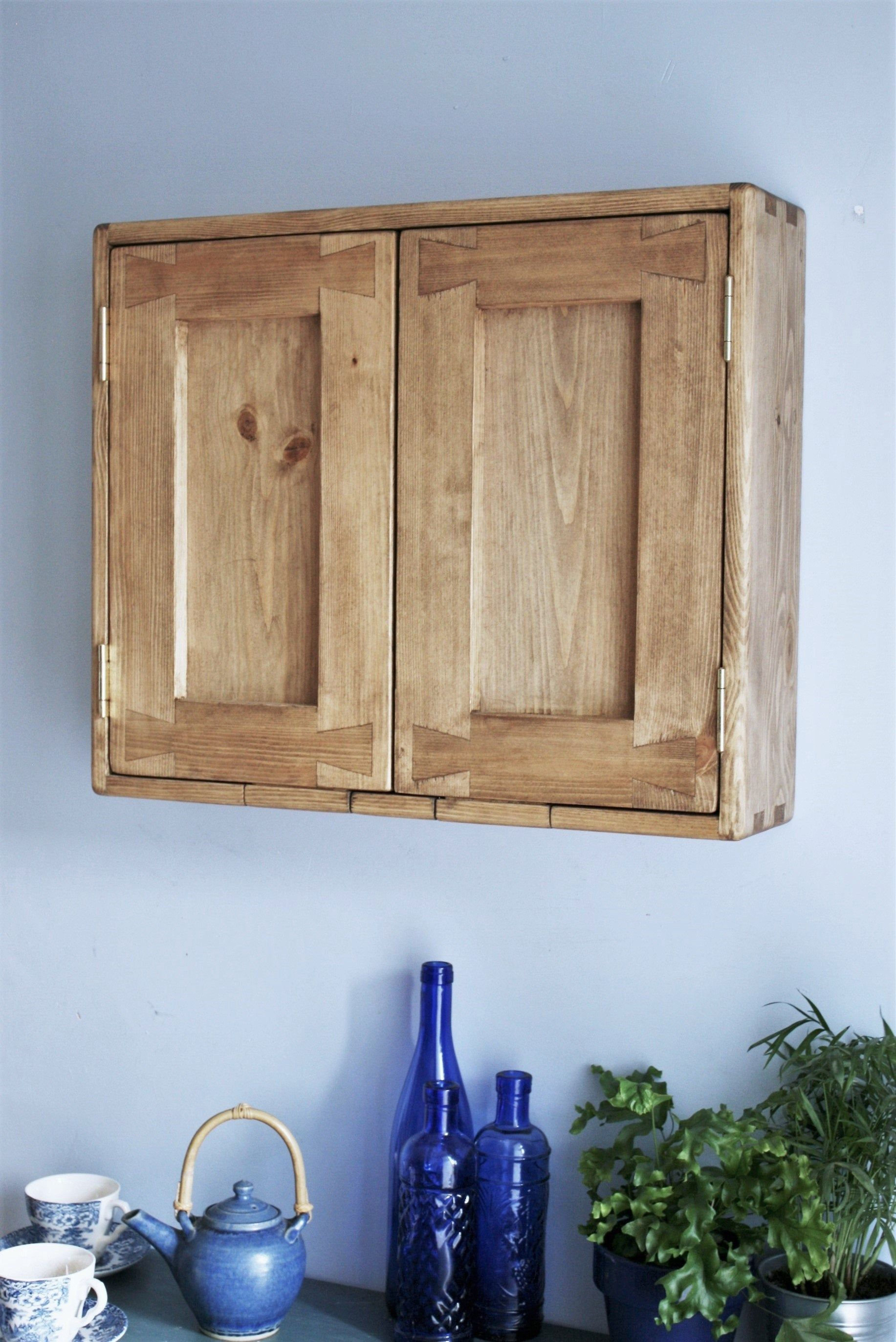Wooden Bathroom Wall Cabinet Modern Rustic 50h X 60w X 14d Cm Double Doors 2 Shelves Natural Light Wood Custom Handmade Somerset Uk In 2020 Wall Cabinet Bathroom Wall Cabinets Rustic Wooden Furniture