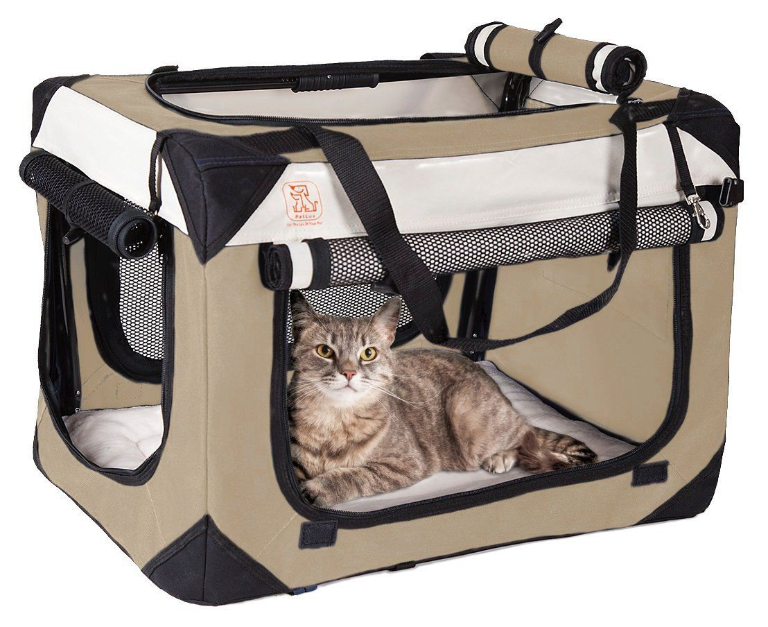 "Soothing ""Happy Cat"" Cat Carrier w/ Comfy Plush Sleep"