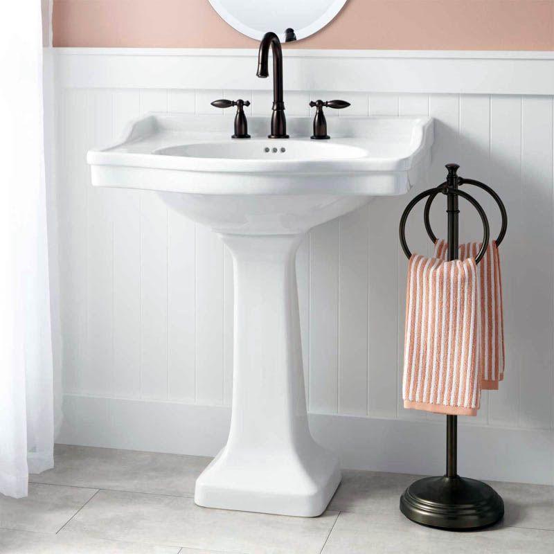 Impressive Bathroom Sink Cabinets B Q Tips For 2019 Pedestal Sink Bathroom Pedestal Sink Small Pedestal Sink