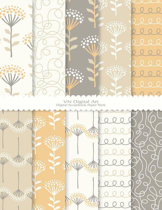 [Dandelion Digital Scrapbook Paper Pack 8.5x11300 by VNdigitalart, $3.00]