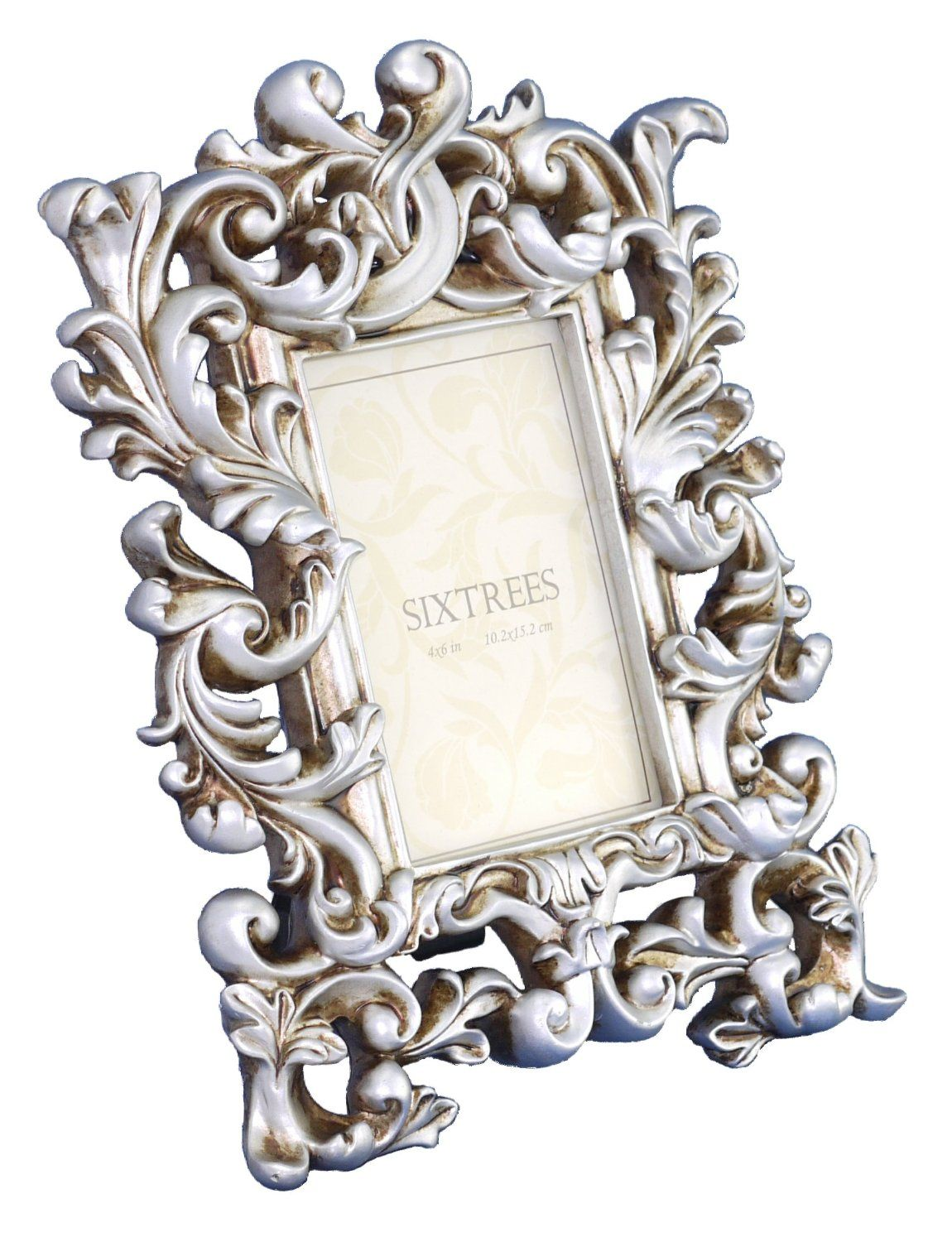 Shabby Chic Style Very Ornate Silver Photo Frame for 6\