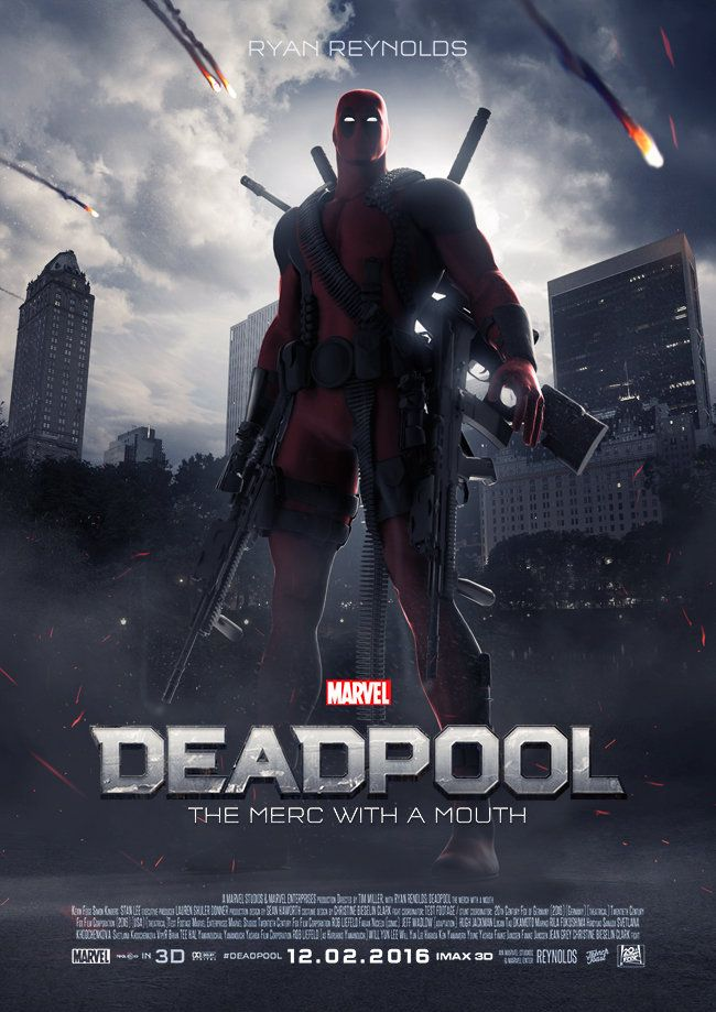 Deadpool 2016 poster | Movie Poster | Pinterest | Deadpool ...