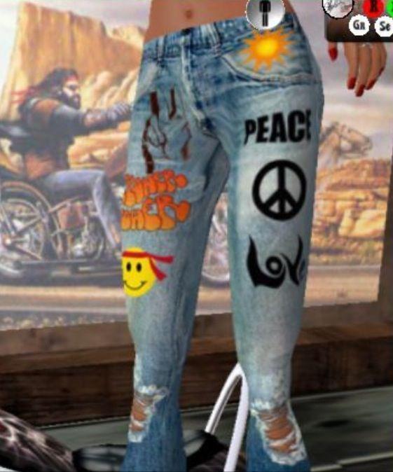 Peace Love Hippie Jeans Hippie Costume Hippie Style