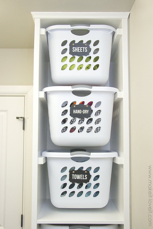Diy Laundry Basket Organizer Built In Diy Laundry Basket