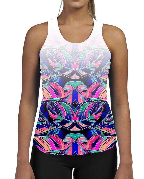 #Colour #Fitness #GYM #Ladies #Muscles #Palm #Pattern #Sun #Tank #Top #vest #Womens Colour Palm WOME...