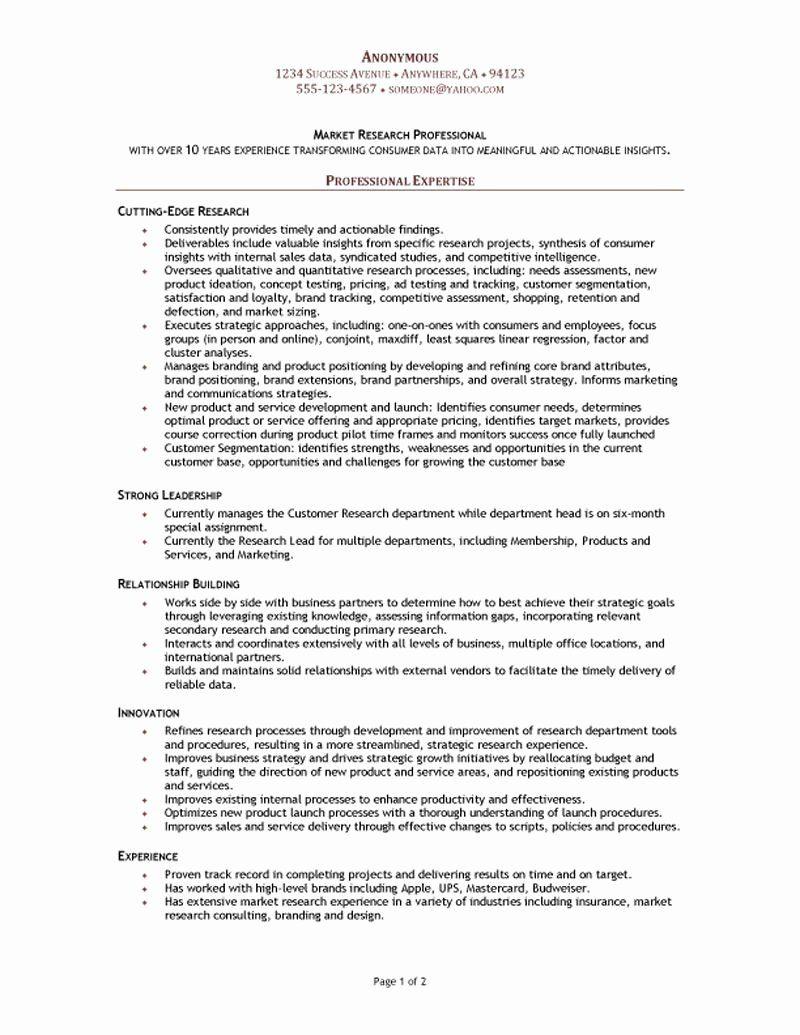 Research assistant Resume Description Beautiful Market