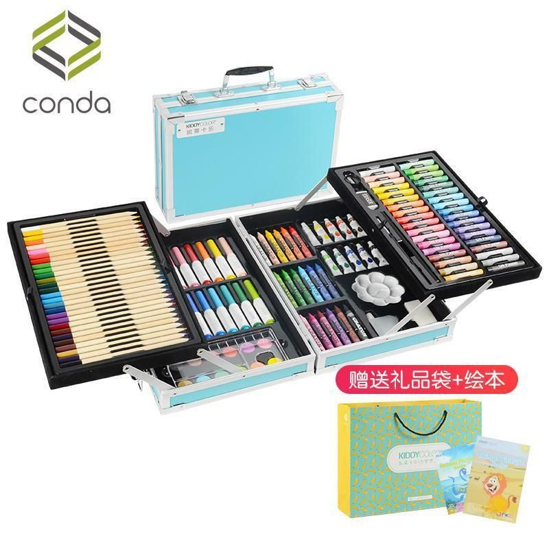 Children S Painting Set Watercolor Strokes Markers Pencils