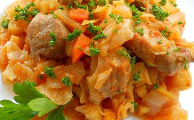 Мясное рагу с капустой в мультиварке: рецепт с фото, как ...