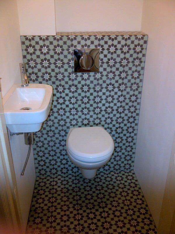 Zementfliesen aus marokko wc fliesen badezimmer und - Zementfliesen bad ...