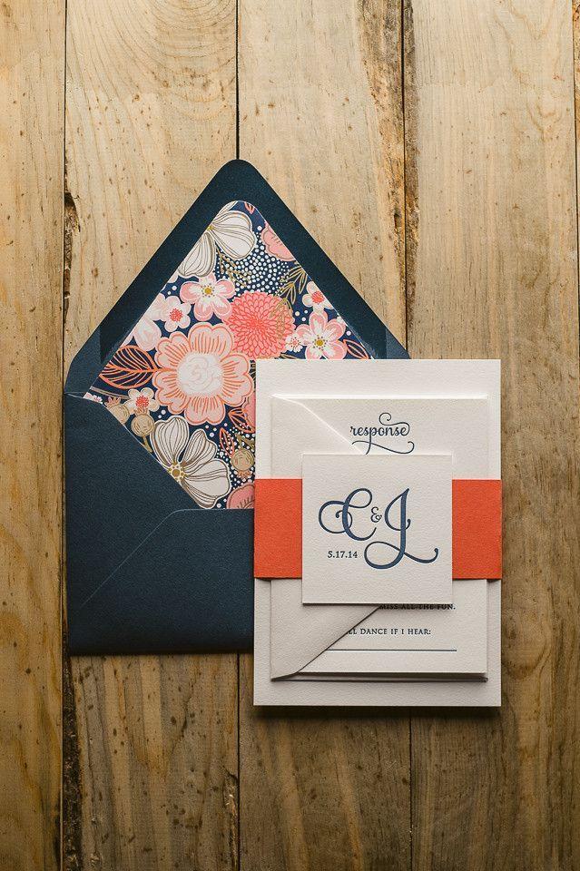 We are Totally Crushing on These Orange Wedding Ideas   Invitation ...