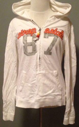 Aeropostale Sweater Womens 1 2 ZIP Medium White Girls Graphic Hoodie Long  Sleeve   eBay Weißer 120b09f2c3
