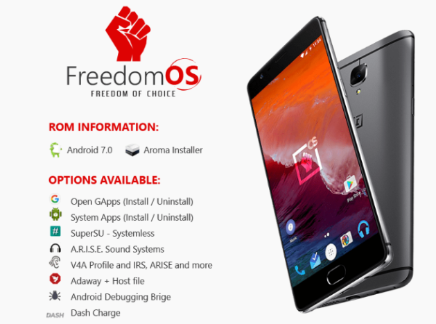 Download and Install Freedom OS for OnePlus 3T | android