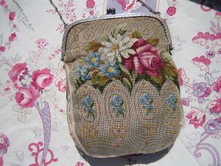 vintage needlepoint handbag