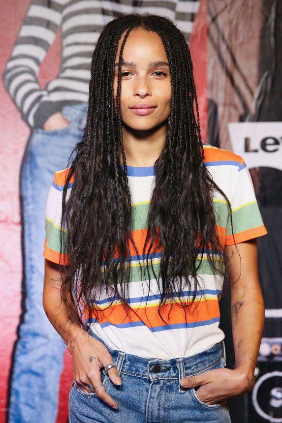 Zoe Kravitz S Most Badass Hair Moments Zoe Kravitz Braids Box Braids Hairstyles Black Women Hairstyles
