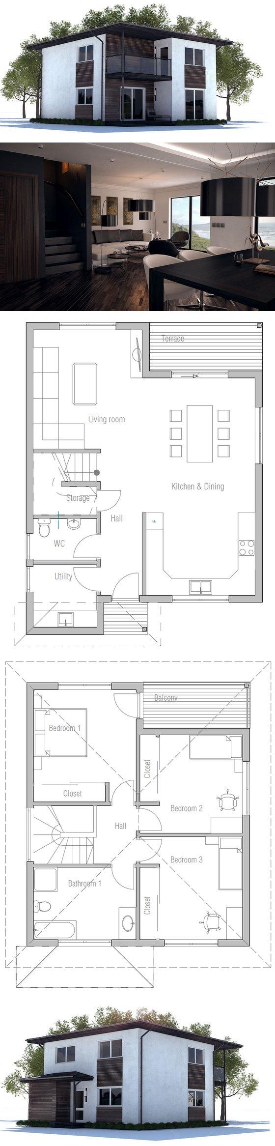 Small House Ch237 House Plans House House Design
