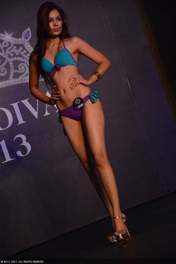 Miss diva finalist srishti rana strike a pose in a bikini - Diva my body your body ...