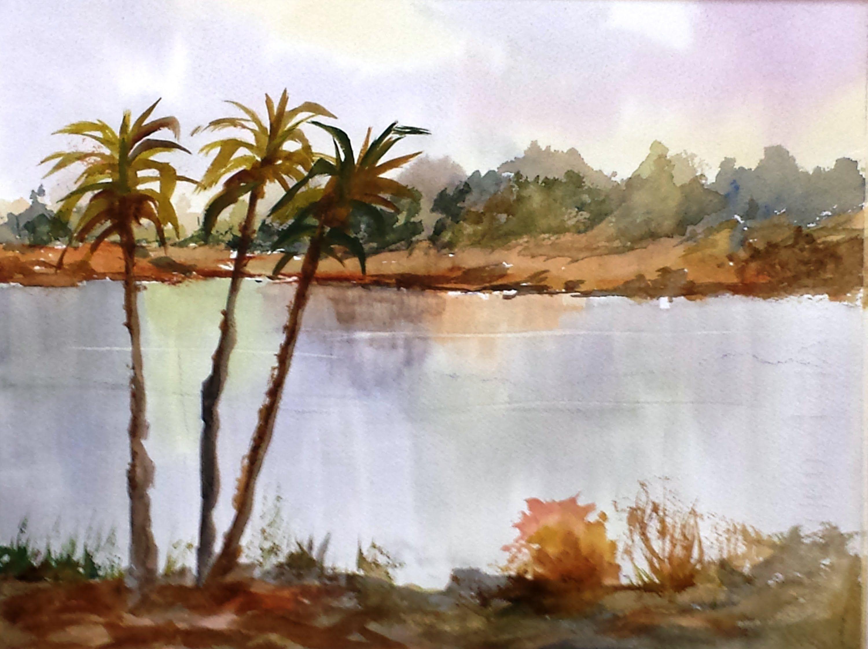 Paint Along With Larry Hamilton Watercolor Florida Landscape