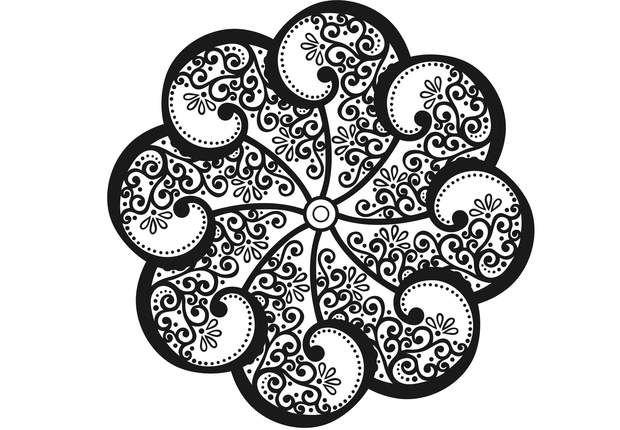 Coloriage anti stress et mandala gratuits pour adulte mandala gratuit d tendre et arabesque - Madala a imprimer ...