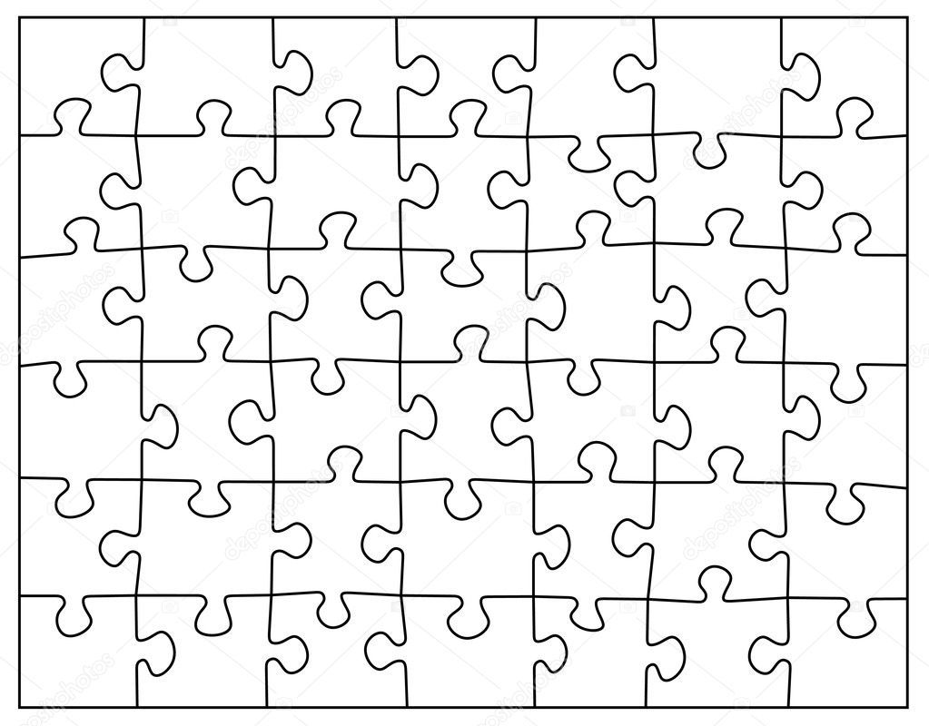 Empty puzzle black and white vector Busy book, Empty