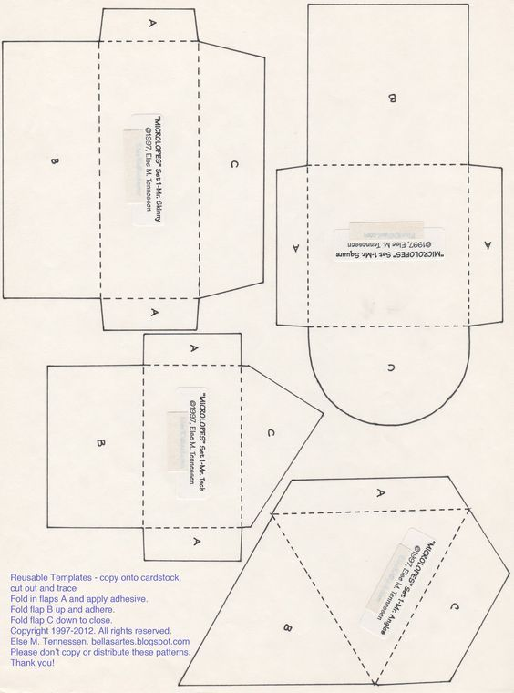 #PRINTABLE #CREATIVE #ENVELOPE #TEMPLATE #DIY (With images ...