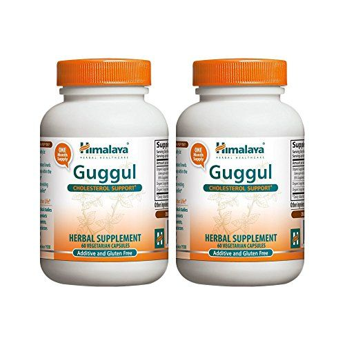 Himalaya Pure Herbs Guggul Cholesterol Support 75 mg Guggulsterone 60 Vegetarian Capsules  Pack of 2 ** Read more reviews of the product by visiting the link on the image.