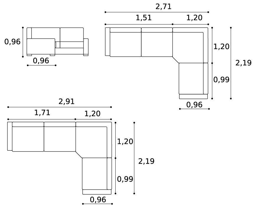 Medidas de sof pesquisa google human size pinterest for Sofa esquinero grande