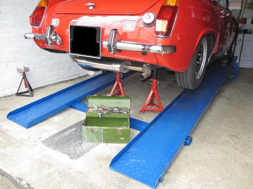 Car lift/ramps - the simple unique patented MR1s for DIY ...