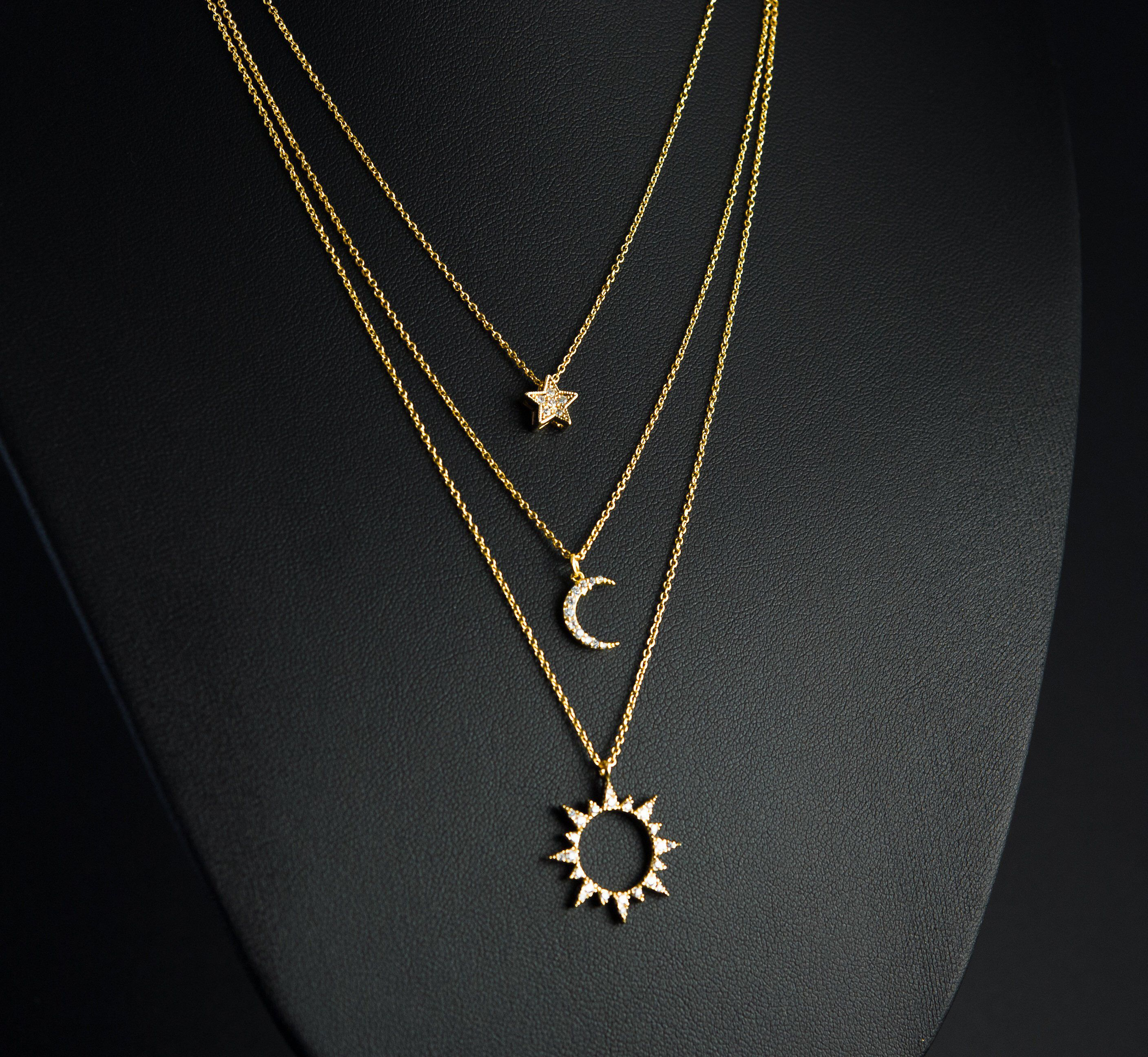 Jewels Obsession Sun Necklace 14K Yellow Gold-plated 925 Silver Sun Pendant with 16 Necklace