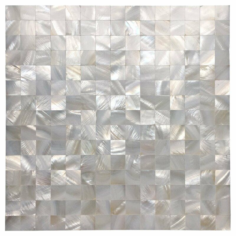 12 X 12 Peel Stick Mosaic Tile In 2020 Shell Mosaic Tile Mosaic Tile Backsplash Pearl Tile