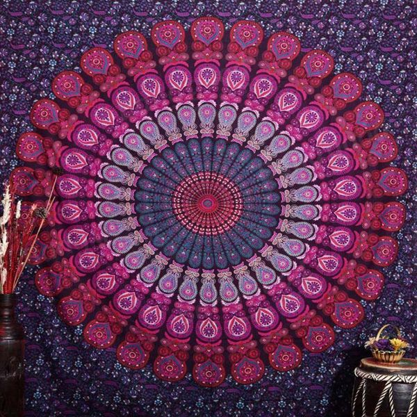 150x210cm Bohemian Style Thin Chiffon Beach Yoga Towel Mandala Rectangle Bed Sheet Tapestry at Banggood
