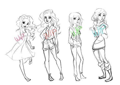 Hazel: Spring, Annabeth: Summer, Piper: Fall, and Reyna