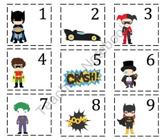 Preschool Printables Batman numbers | Superhero classroom ...