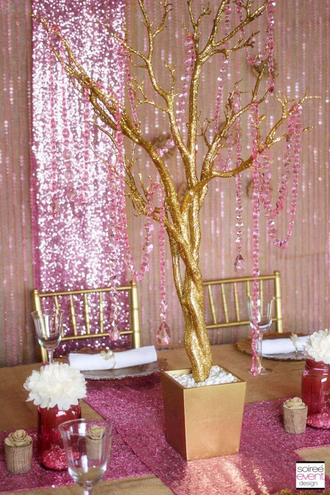 20+ Elegant Pink White And Gold Centerpieces For Your Best Wedding ...