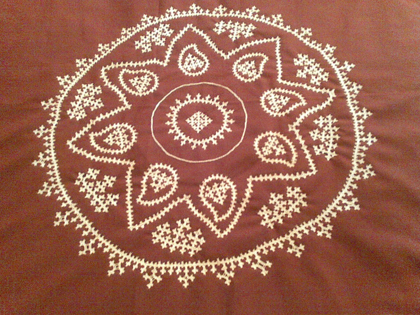 Bed sheet designs hand embroidery - Srilu Arts Kutch Work Hand Embroidary On Bedsheet