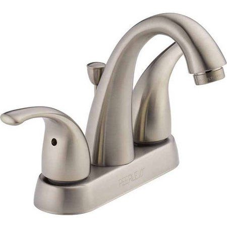 Peerless Tunbridge Two Handle Bathroom Faucet In Brushed Nickel