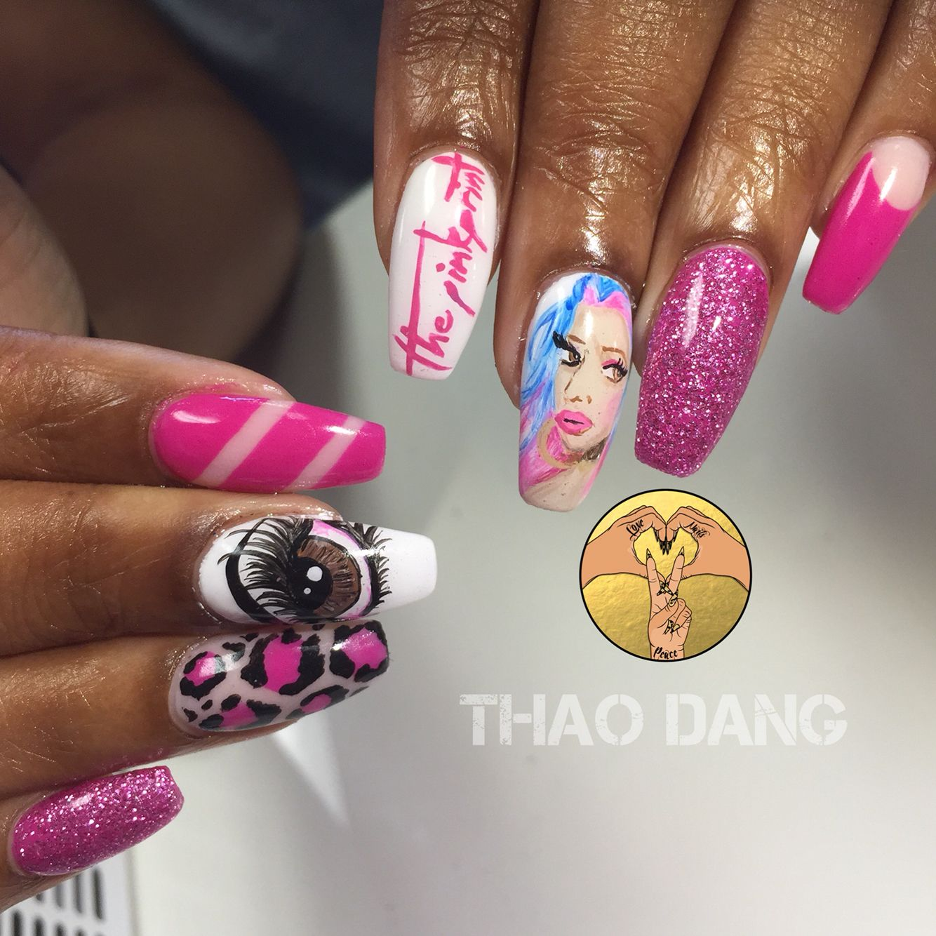 Nicki Minaj Nail Art | Nail Art | Pinterest | Nicki minaj and Beauty ...