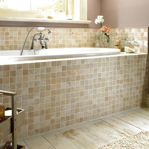 Natural Travertine Stone Is Cut Into Tiles Before Being Tumbled To Soften The Surfaces And Edges