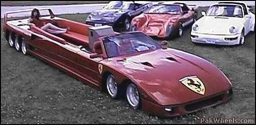 ferrari limo | Ferrari convertible, Limousine car, Limo