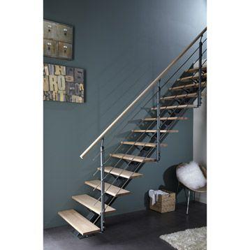 Escalier Mona Escapi Droit En Aluminium 14 Marches Leroy Merlin 15 A 1458
