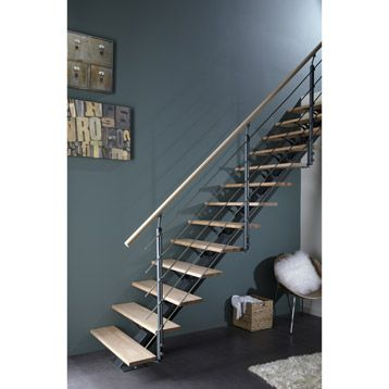 Escalier Mona Escapi Droit En Aluminium 14 Marches Leroy Merlin
