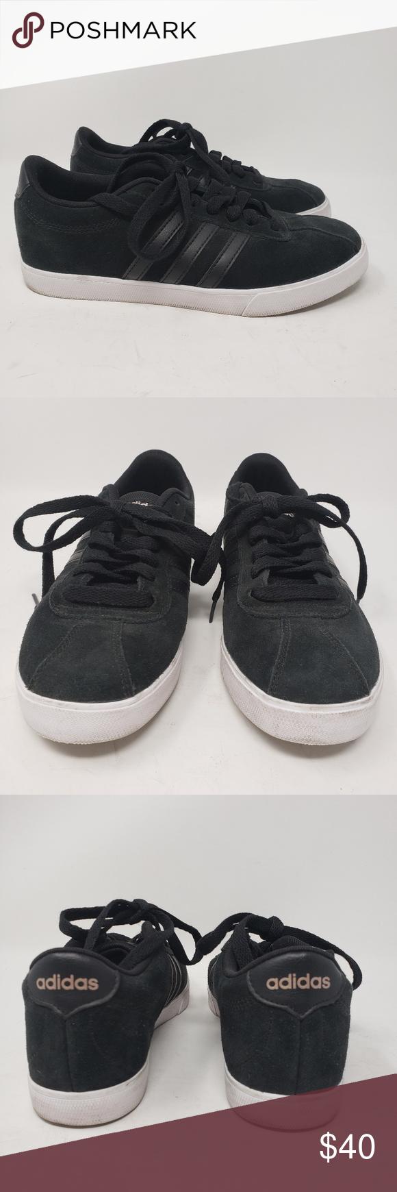 Women's Adidas black suede sneakers size 6 | Adidas women, Black ...