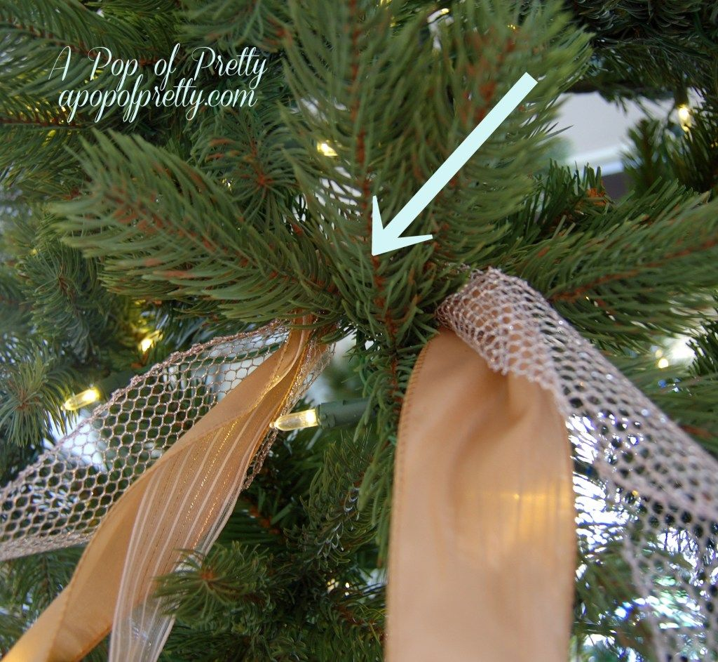 A Super Easy Method For Adding Ribbon To A Christmas Tree In A Cascading Waterfall Effect In 2020 Ribbon On Christmas Tree Rustic Christmas Tree Christmas Decorations