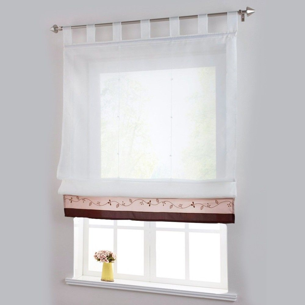 Bamboo Fabric Window Curtain Patchwork Stitching With Plastic Tubes Home Decor Curtainsideasforclassroom Curtains Living Room Curtains Roman Curtains