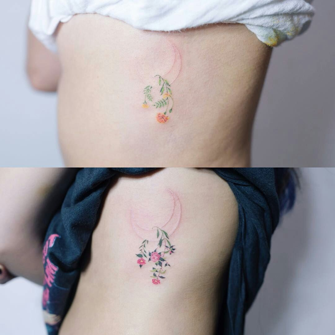 By Soltattoo Flower Camellia Marigold Minimalist Watercolor Tattoos Subtle Tattoos Marigold Tattoo