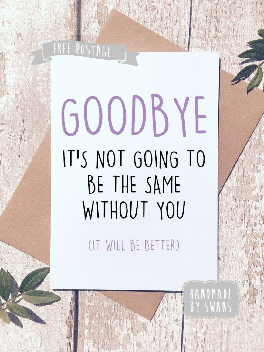 Farewell Message Card In 2021 Goodbye Cards New Job Card Leaving Cards