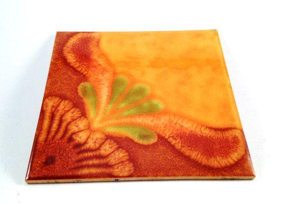 Ceramic Trivet Tile Made in the Former West by VintageVonRetro