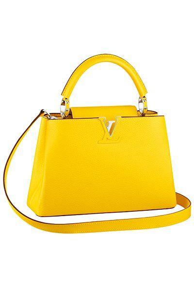 5d1d57b8b825a Louis Vuitton Resort 2015 Mini Capucine bag in yellow.