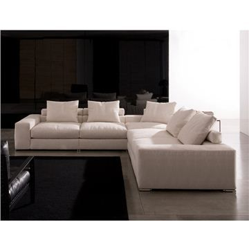 Minotti jagger low back sectional sofa interior quotlike for Sectional sofa low back