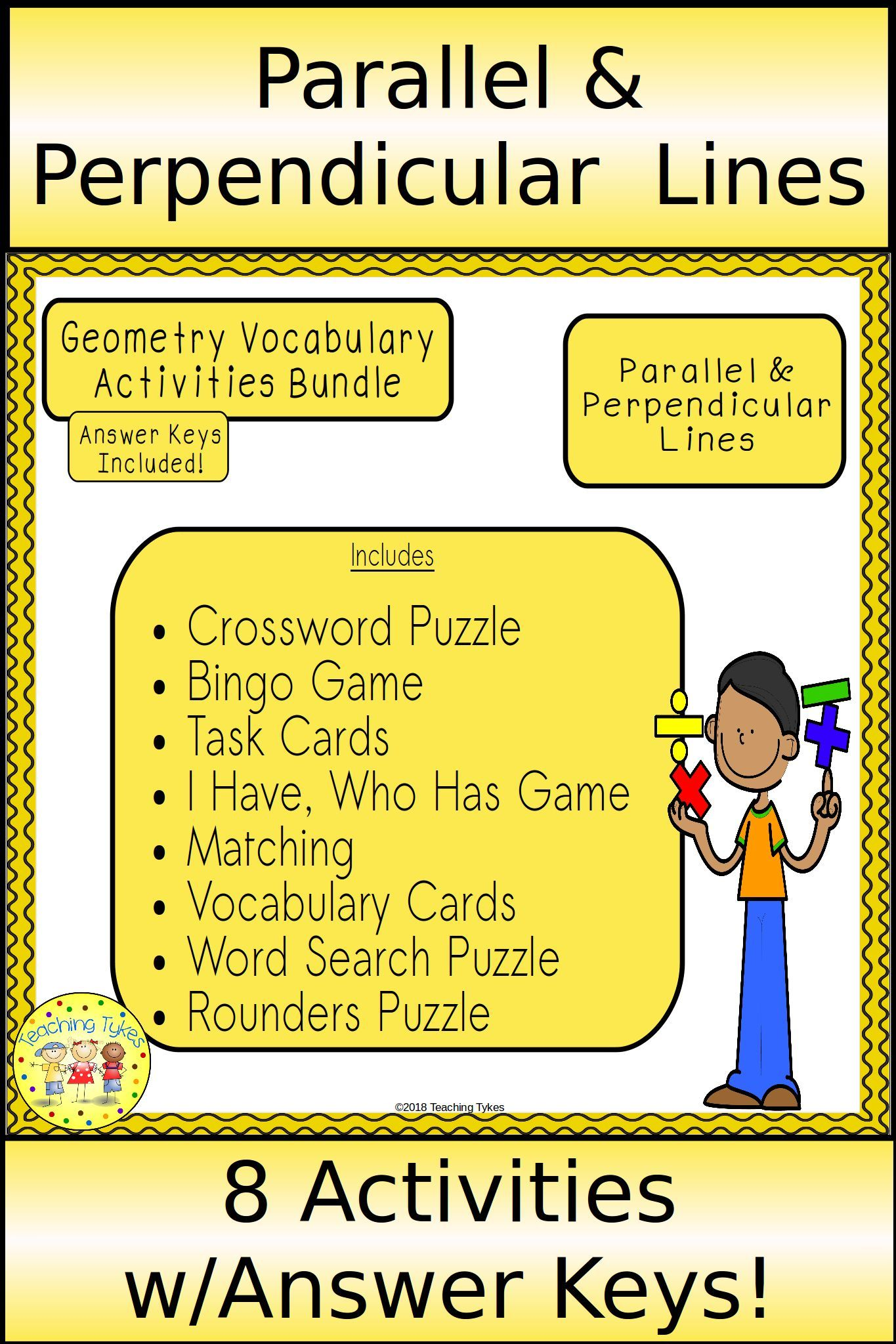 Parallel And Perpendicular Lines Geometry Bundle